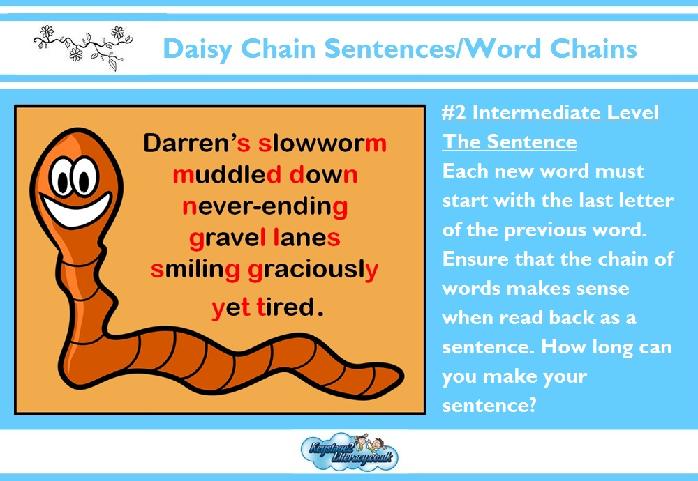 daisy chain sentences key stage 2 literacy